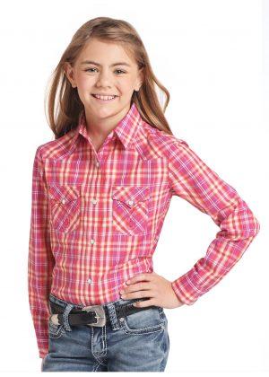 barn skjorta rosa rutig cowkid western westerntackandfashion