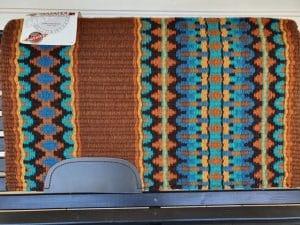 mayatex sadel filt brun bla turkos