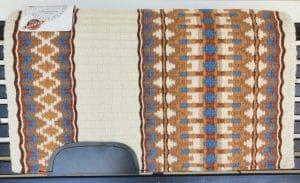 mayatex sadel filt brun vit bla