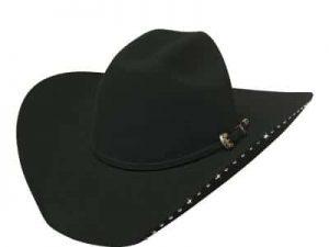 delta dawn svart cowboyhatt