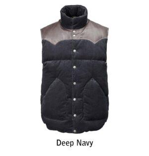 cord vest deep navy