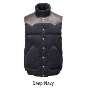 deep navy cord vest